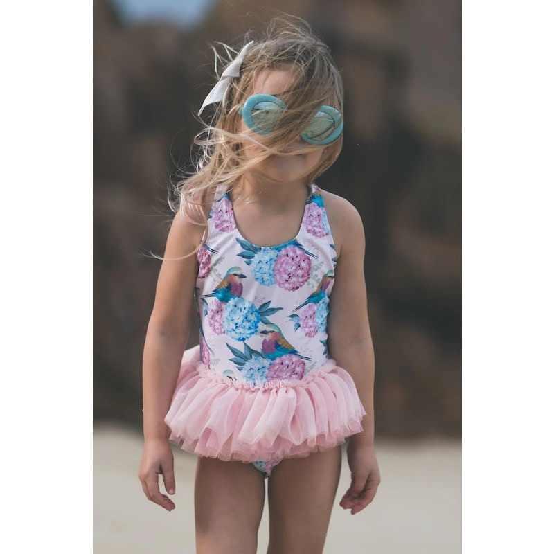 16db24c20f ... 2019 Summer Toddler Baby Girl Swimsuit Cute Leopard Swan Bathing Kids  Swimwear Ballet Skirt Baby Girl ...