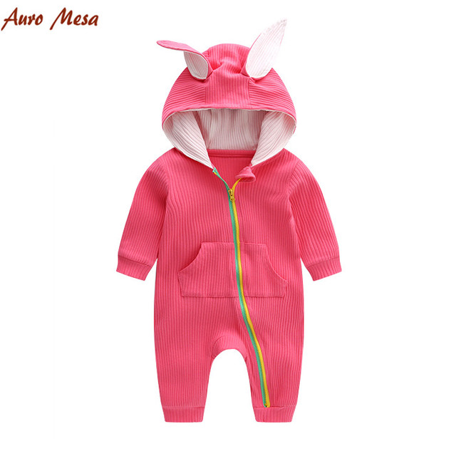 bd4d3617331c Auro Mesa New Arrivals 100% Cotton Newborn Baby Rompers Rabbit ears baby  Clothing Spring clothes