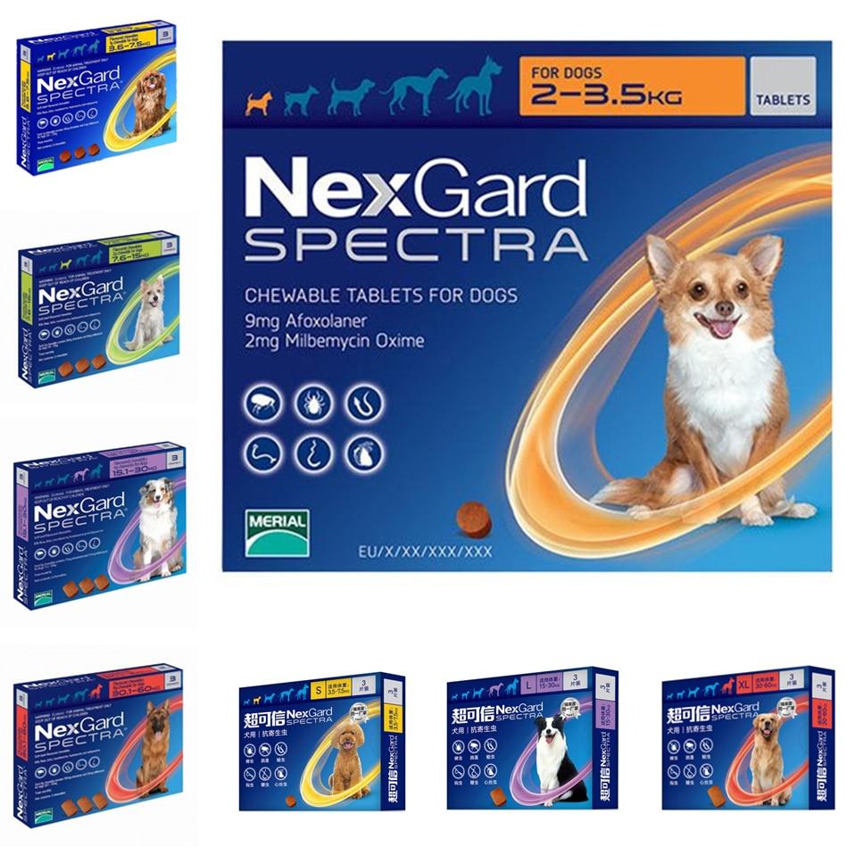 NexGard Spectra Orale Trentment Voor Hond Vlooien & teken & Intestinale & Wormen & Heartworms-in Hond Accessoires van Huis & Tuin op  Groep 1