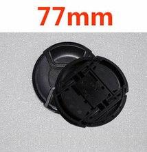 30 pçs/lote LOGOTIPO 77mm centro pitada Snap on tampa de cobertura para nikon 77mm Lente