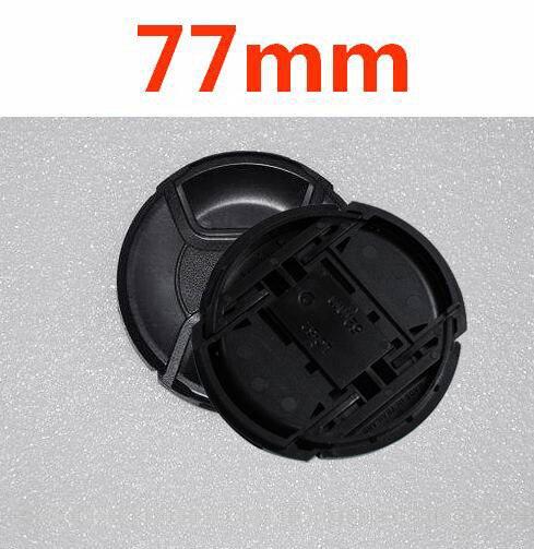 30 stks/partij 77mm center pinch Snap on cap cover LOGO voor nikon 77mm Lens