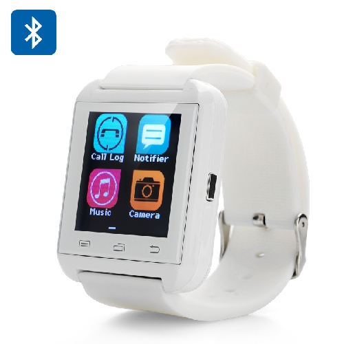 Uwatch U8 Plus Bluetooth Smart Watch - phone book Sync, Call,SMS,Sleep monitor,Pedometer,Free APP for IOS & Android (white) wireless service call bell system popular in restaurant ce passed 433 92mhz full equipment watch pager 1 watch 7 call button