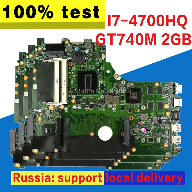 X750JB Motherboard GT740M 2GB I7-4700HQ For ASUS X750J X750JN A750J K750J Laptop motherboard X750JB Mainboard X750JB Motherboard цена