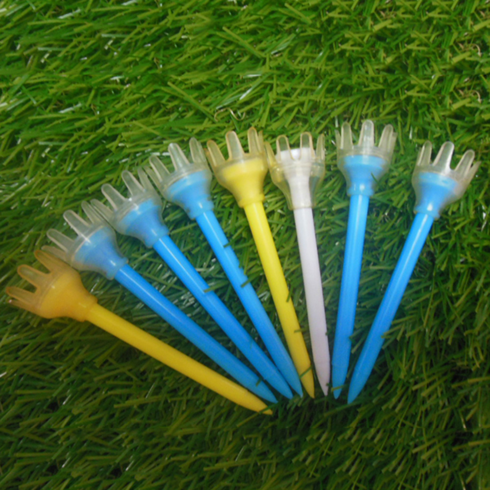 CRESTGOLF 50pcs 2-3/4inches+10mm(crown) Plastic Golf Tees Rubber Crown Head Design---Frictionless,Ultra Durable
