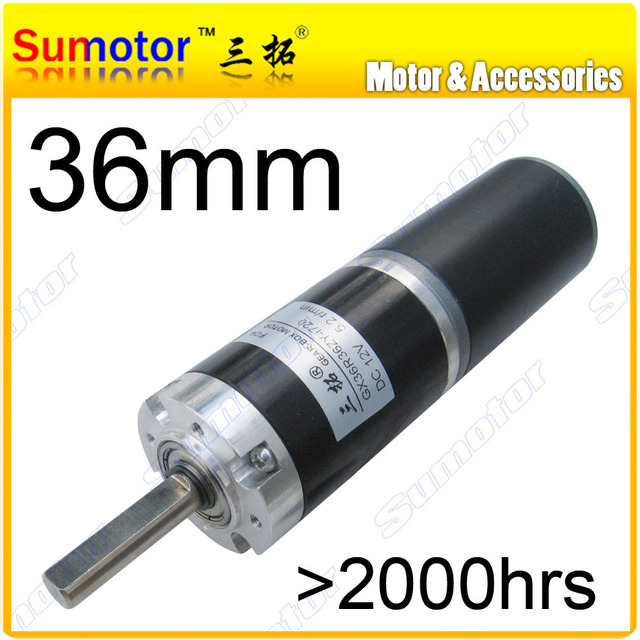 GX36 D=36mm 12V 24V low speed DC Planetary geared motor brushed Long life-span Large torque Tubular Durable reducer gear box