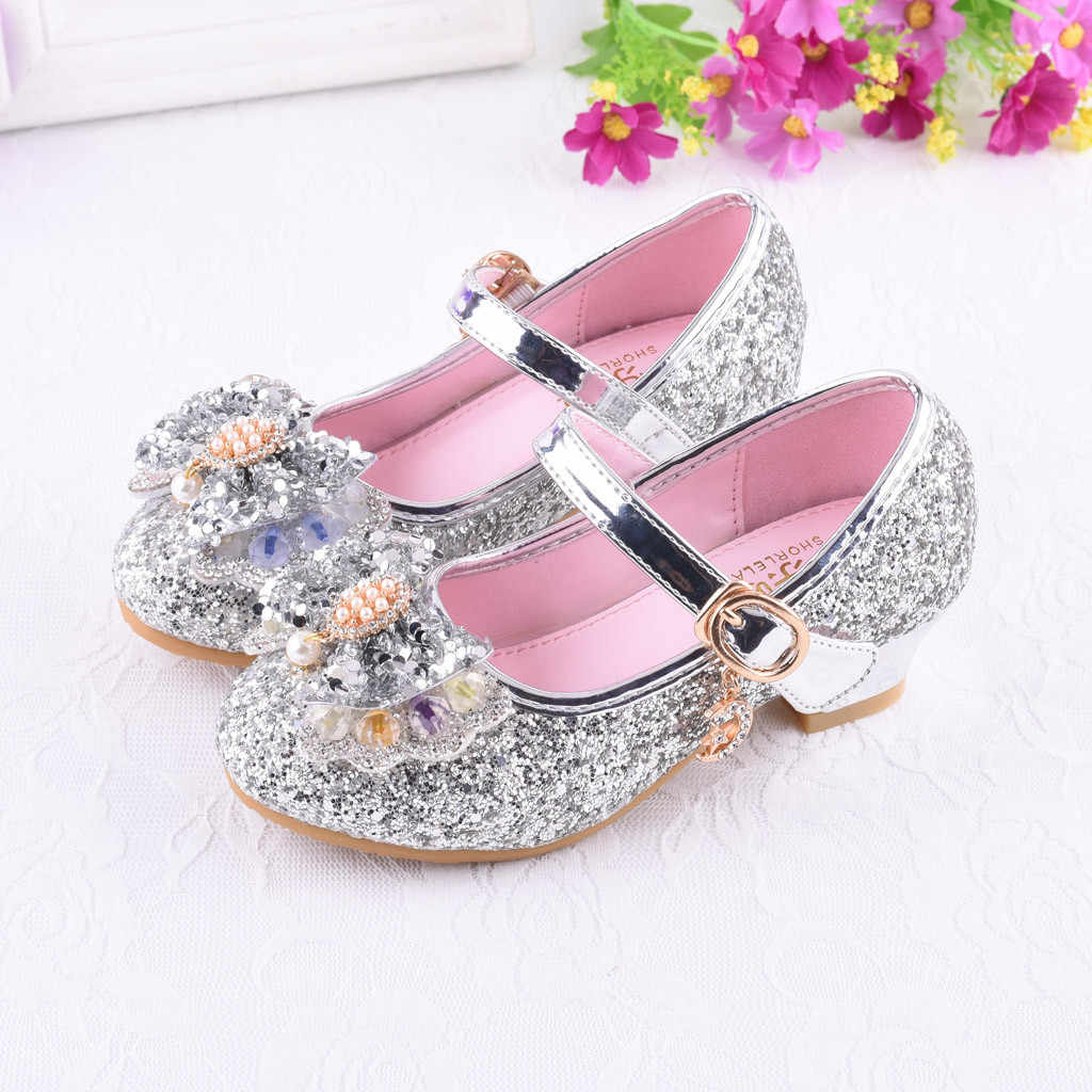 Infant Kids Baby Girls Pearl Crystal Bling Bowknot Single Princess Shoes  Sandals Fashion Girls Sandals Diamond bb4155ee7752