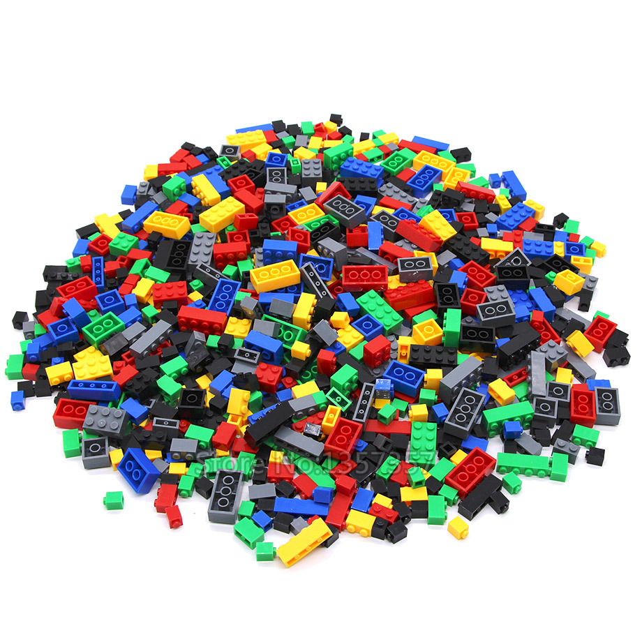 Legoingly 1000pcs Bricks Designer Creative Classic DIY Building Blocks Sets City Educational Toys For Children 6 Colors 840g lepin 42010 590pcs creative series brick box legoingly sets building nano blocks diy bricks educational toys for kids gift