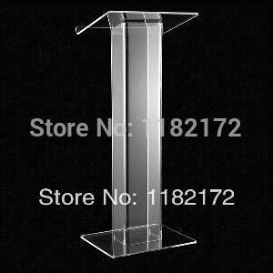 Pupitre en acrylique transparent, Podium en plexiglas, support de chaire/haut-parleur en PmmaPupitre en acrylique transparent, Podium en plexiglas, support de chaire/haut-parleur en Pmma