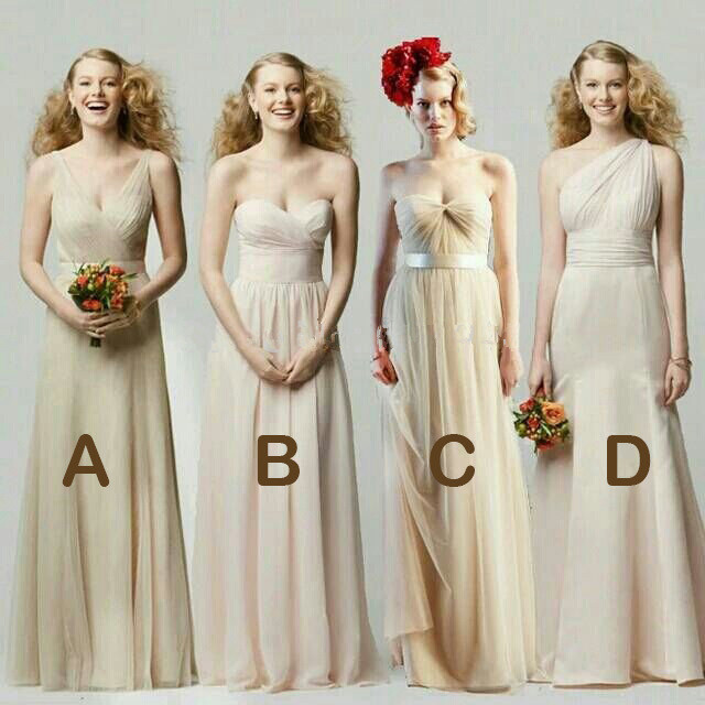 Aliexpress.com : Buy Pale Yellow Bridesmaid Dress For Party Over ...
