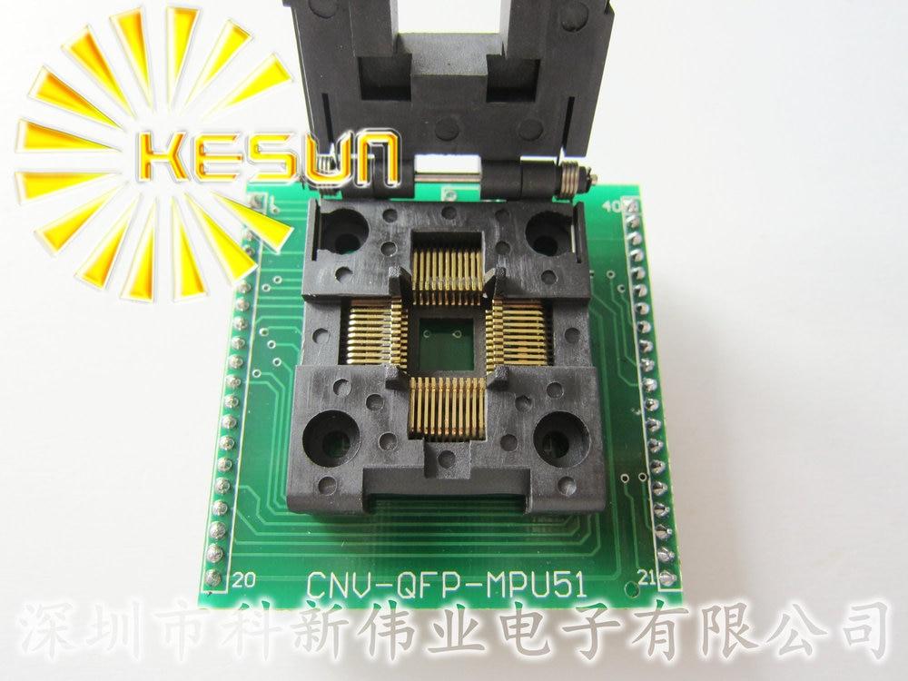 CHIP PROGRAMMER SOCKET TQFP44 QFP44/ PQFP44 TO DIP40 adapter socket support MCU-51 chip free shipping program ch2015 usb high speed programmer 300mil fp16 to dip8 socket eeorom spi flash data flash avr mcu programmer
