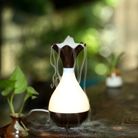Essential Oil Diffuser USB Air Humidifier Ultrasonic Aromatherapy Purifier LED Night Light Atomization Wood Vase Purify