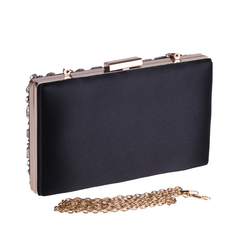 lady Colorful luxury diamonds hand clutch dinner bag women's hand bag hard shell small square bag wholesale evening party clutch
