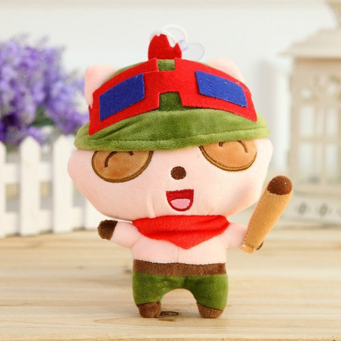 20cm Game Teemo Plush Toy Soft Stuffed Doll Cosplay Children Gift Kids Toys Free Shipping