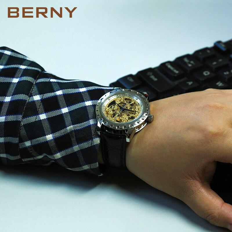 Berny horloge mannen mechanische en automatische herenhorloges luxe - Dameshorloges - Foto 6