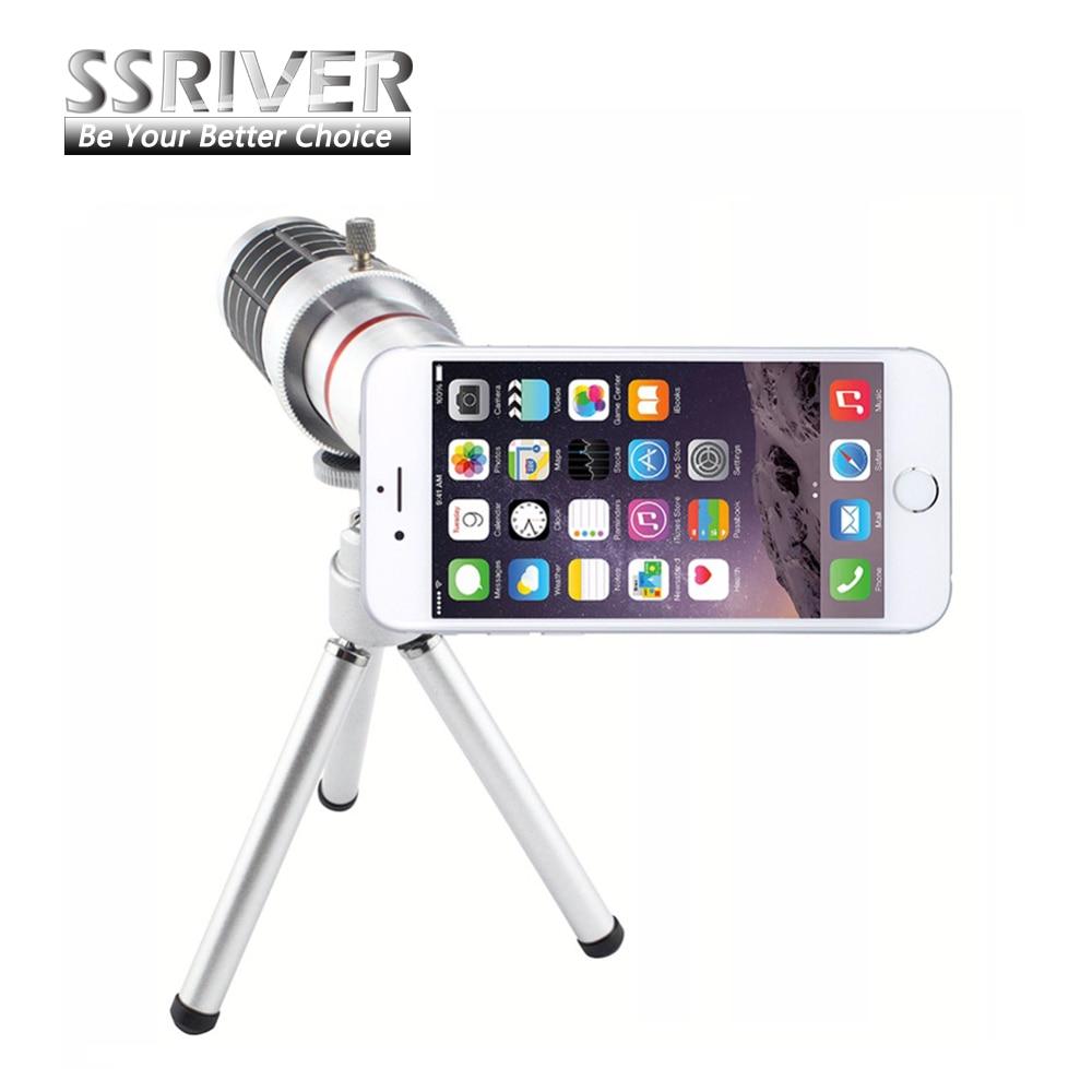 """bilder für Neue Heiße Verkauf Für iPhone 7 4,7 """"12X Optischer Zoom Teleskop-kameraobjektiv + Stativ + Fall-abdeckung Telefon 12X Zoom Objektiv"""
