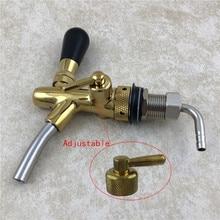 Stainless steel Adjustable Draft Beer Faucet G5/8 Shank Chrome Gold Plating For Homebrew Bar keg Dispenser