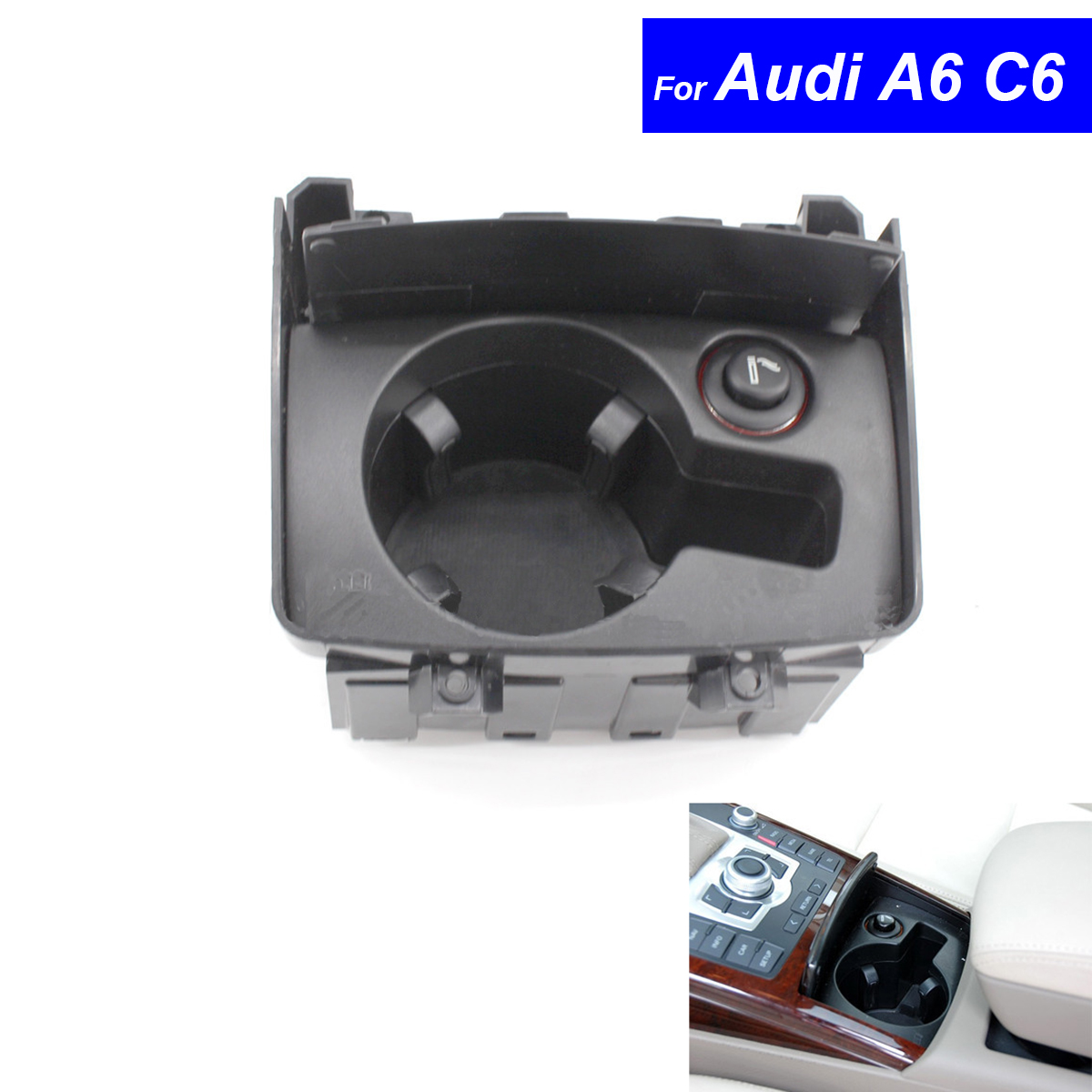 Car Styling Dash Cup Holder For Audi A6 C6 2006 2007 2008 2009 2010 2011 Car Drinks Holders Free Shipping 4F1 862 533C aftermarket free shipping motorcycle parts eliminator tidy tail for 2006 2007 2008 fz6 fazer 2007 2008b lack