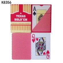 Großhandel! 10 Sätze/los Texas Holdem Rot Und Blau 100% plastikspielkarten hochwertige Wasserdichte karten poker stars K8356