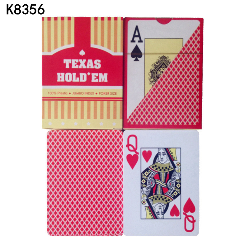 Wholesale ! 10 Sets/Lot Texas Holdem Red And Blue 100% Plastic Playing High Quality Waterproof Cards Poker Stars K8356