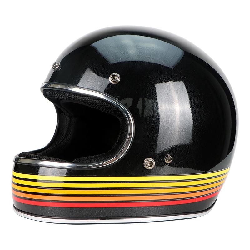 Fiberglass Full Face Helmet Vintage JET Motorcycle Helmet Racing Motocross Motorbike Casco Capacete Retro Helmet DOT ECE A1
