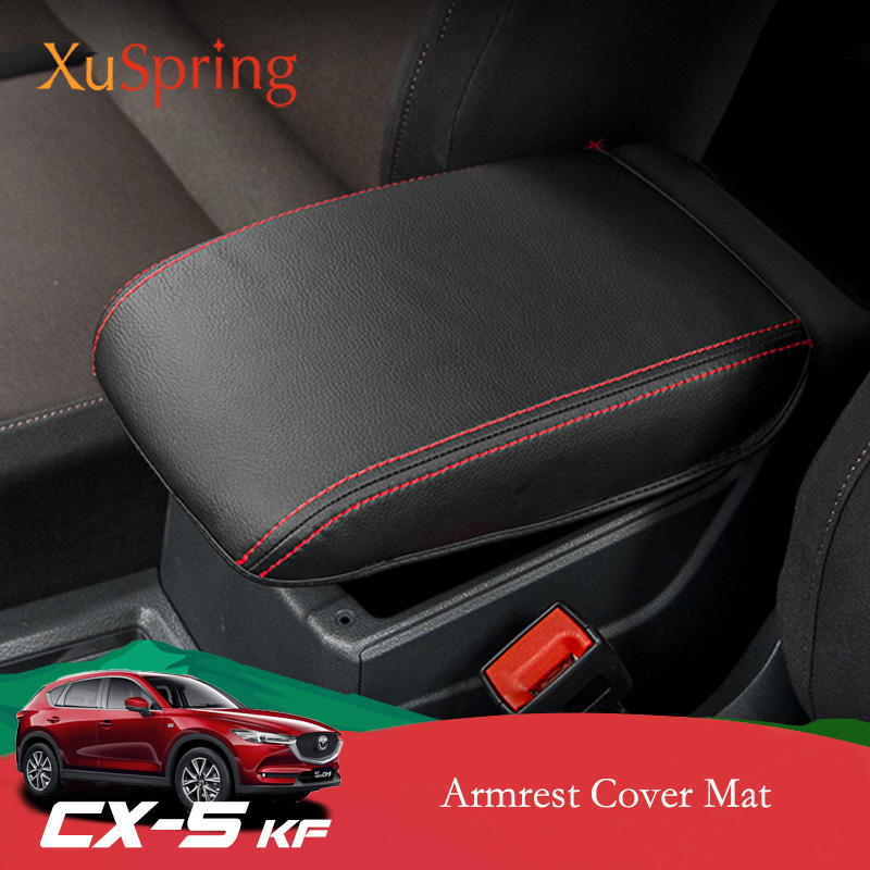 Car Armrest Console Mat Cover Cushion Support Box Armrest Top Pad Liner Car Styling For Mazda CX-5 CX5 2017 2018 2019 KF