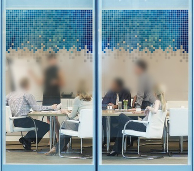 Multicolore mosaico di vetro adesivo con plastica glassato di vetro pellicola porta scorrevole - Mosaico vetro bagno ...