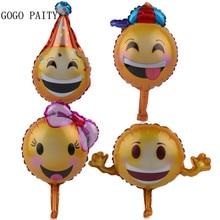 GOGO PAITY Frete Grátis Quatro Mini Emoticons Brinquedo Das Crianças da Festa de Aniversário Da Folha de Alumínio Balão Decoração de Casamento Balão