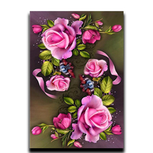 Diamond drill of floral mosaic diamond embroidered roses single Crafts rhinestone pattern square cross stitch painting