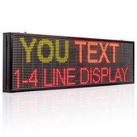 77X30 см 32*96 indoor RGY 3 светодио дный LED дисплей доска Wi Fi Программируемый Прокрутка текст красный зеленый светодио дный желтый светодиод открыть