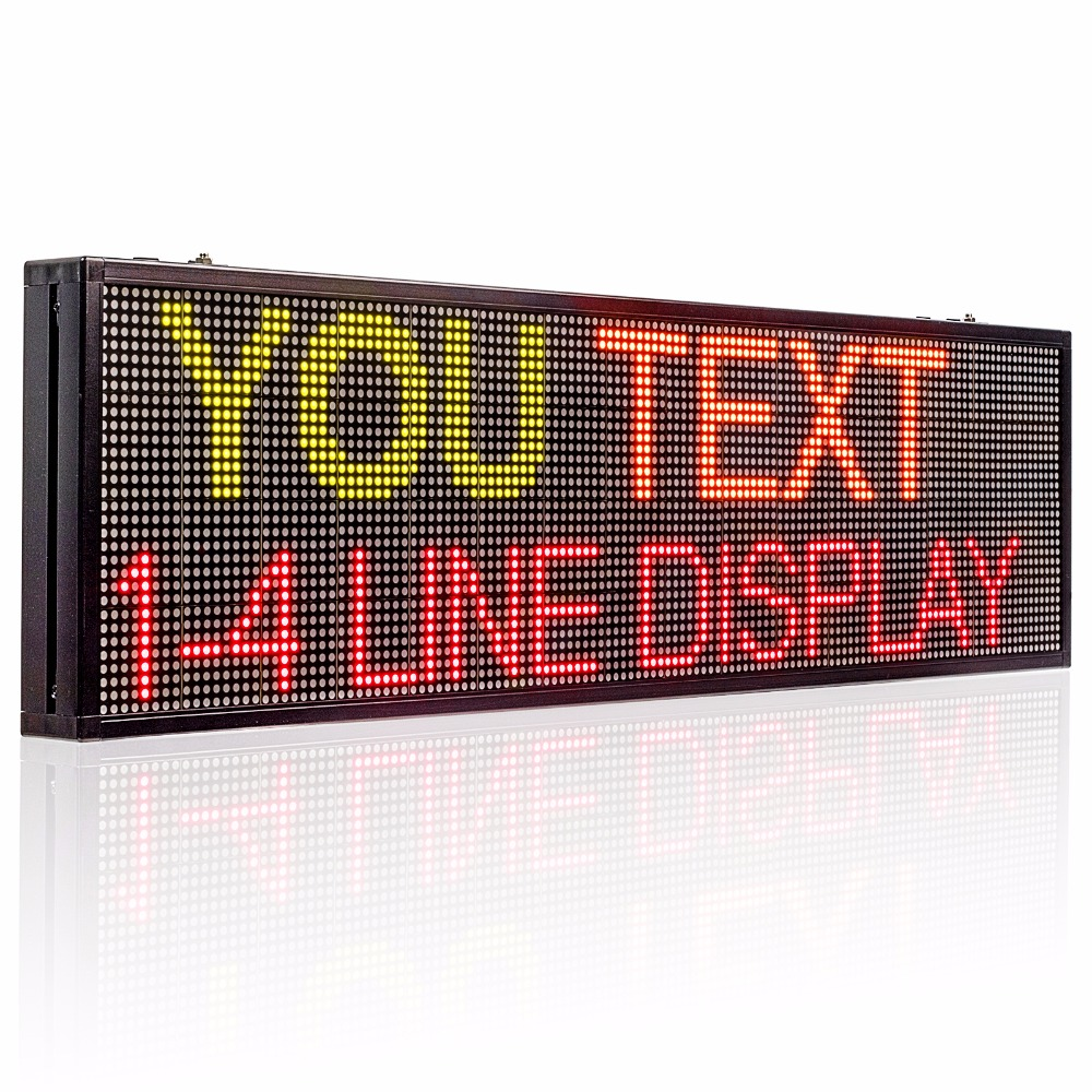 77X30cm 32*96 indoor RGY 3 color LED Display board WIFI Programmable Scrolling text Red Green Yellow LED open <font><b>sign</b></font> <font><b>billboard</b></font> image