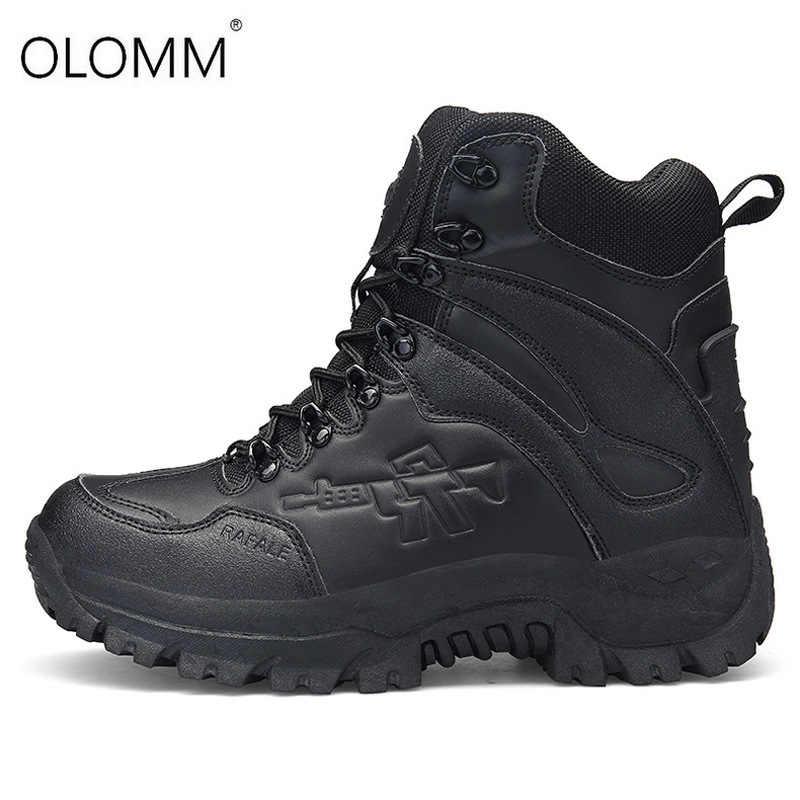 Erkek askeri postal Savaş Mens Chukka bileğe kadar bot Taktik Büyük Boy Ordu Çizme Erkek Ayakkabı Güvenlik Motosiklet Boots Zapatos De Hombre