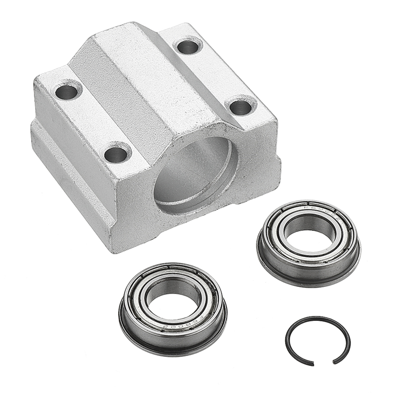Woodworking 10mm Slide Bushing Block With 2 Bearings For No Power Spindle Assembly Small Lathe Accessories