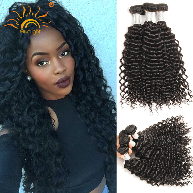 8A Deep wave tight curly Virgin Brazilian hair bundles 3pcs/lot VIP beauty Unprocessed mink Brazilian kinky curly virgin hair