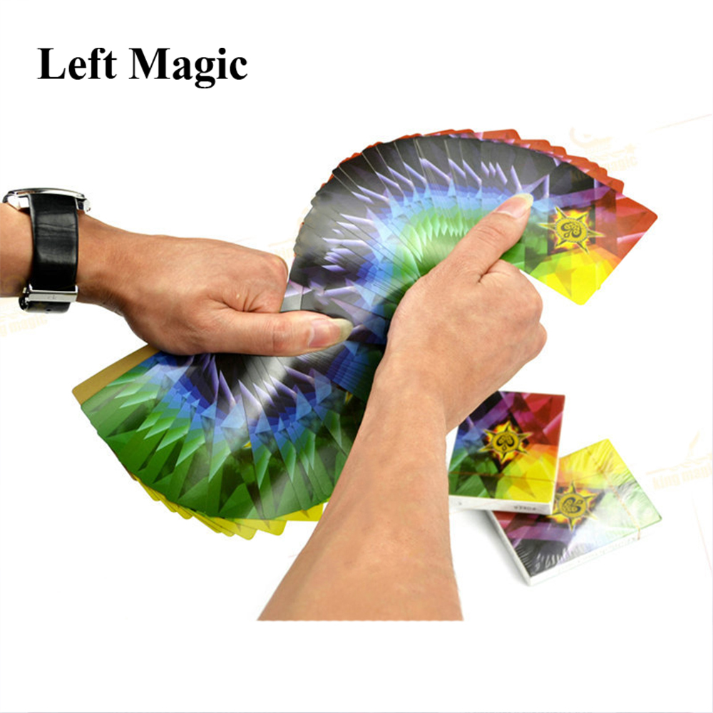 Ultra Thin Rainbow Playing Cards Deck Poker Close-up Street Magic Tricks Props Toys Magic Accessories Kid Puzzle Toy Gift