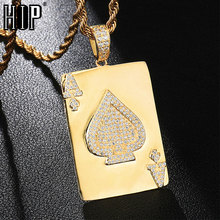 HIP Hop Iced Out Bling Cubic Zircon CZ Cool Poker Necklace & Pendant for Women Men Jewelry Wholesale xukim jewelry silver gold color cubic zirconia iced out paw dog cat claw pendant necklace hip hop jewelry