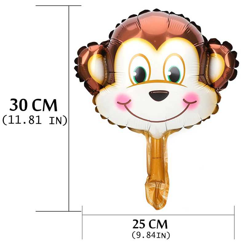 Mini animaux tête feuille ballons gonflable ballon à Air joyeux anniversaire fête décorations enfants bébé douche fête fournitures
