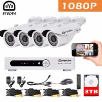 Mother S Day Eyedea 8 CH Phone Monitor Video DVR Recorder 2 0MP Bullet Outdoor LED