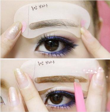 Maquiagem makeup eyebrow stencil korean thrush flat brow card artifact aids word new simple version