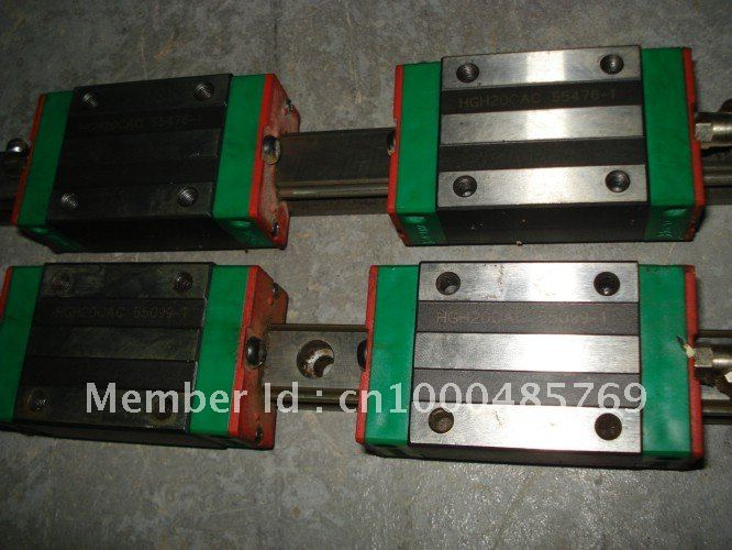 100% genuine HIWIN linear guide HGR45-2600MM block for Taiwan hiwin 100% genuine linear guide block hgh15ca hiwin