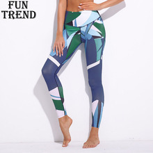 Women Leggings Sportswear Sport Pants Printed Yoga Running Fitness Trousers