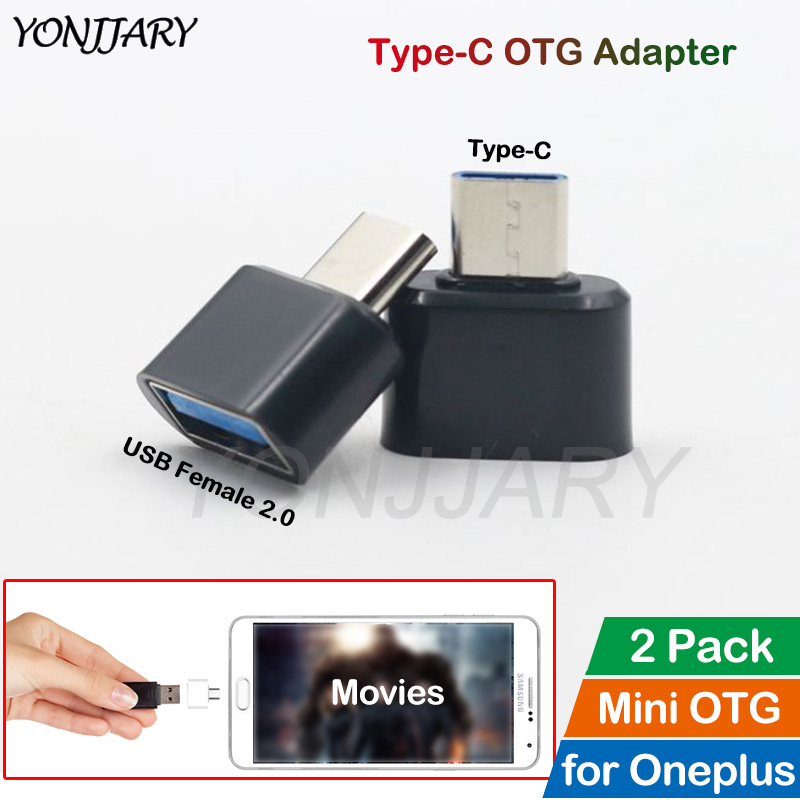 2Pcs USB Type C OTG Adapter For OnePlus 5 5T 6 6T 7 7T Pro USB-C OTG Data Converter For Google Pixel 2 3 4 XL USBC Connector