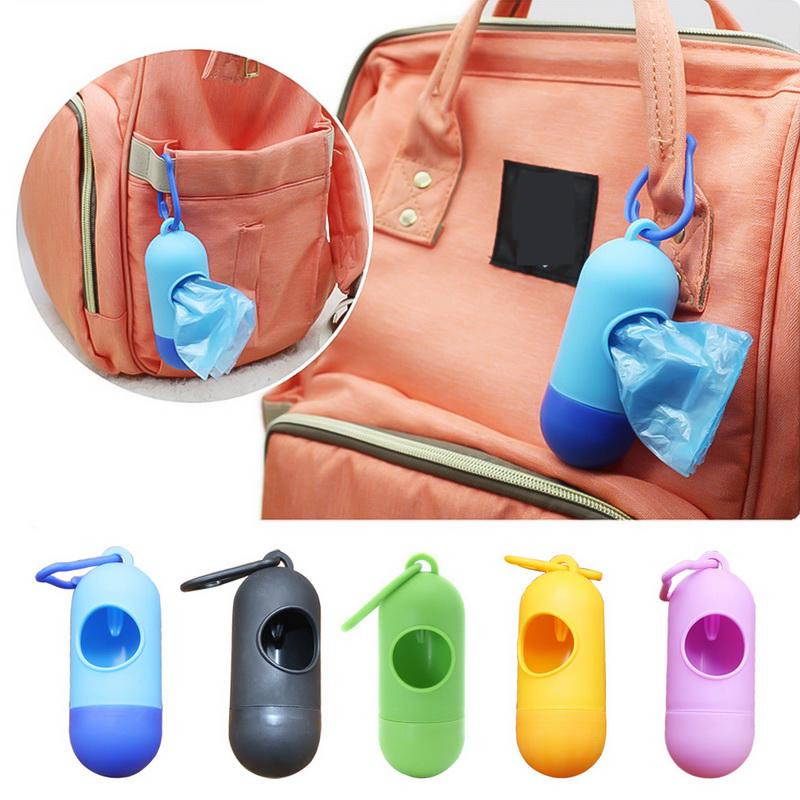New Portable 1/2/4pcs Plastic Small Portable Baby Diapers Bags Rubbish Bags Garbage Bag Removable Box Nappy Bag