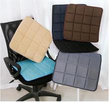 Sedia Da ufficio Cuscino del Sedile Auto di Colore Solido Piazza Traspirante Tessuto di Maglia di Bambù Comodo Divano Cuscino del Sedile