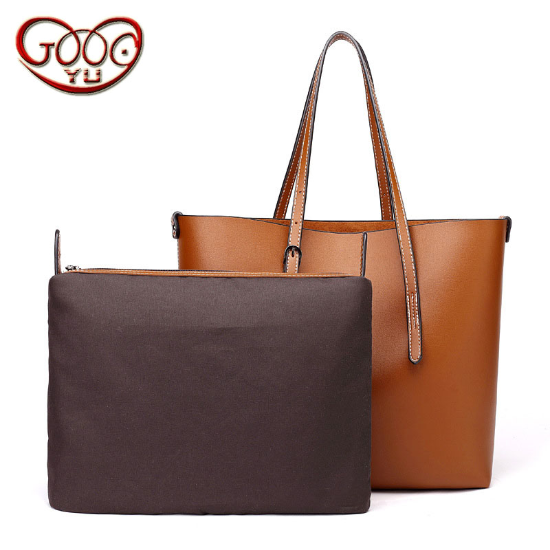 088030e8646a Women s new retro oil tote bag European and American fashion simple ladies  vertical section PU leather shoulder Messenger bag
