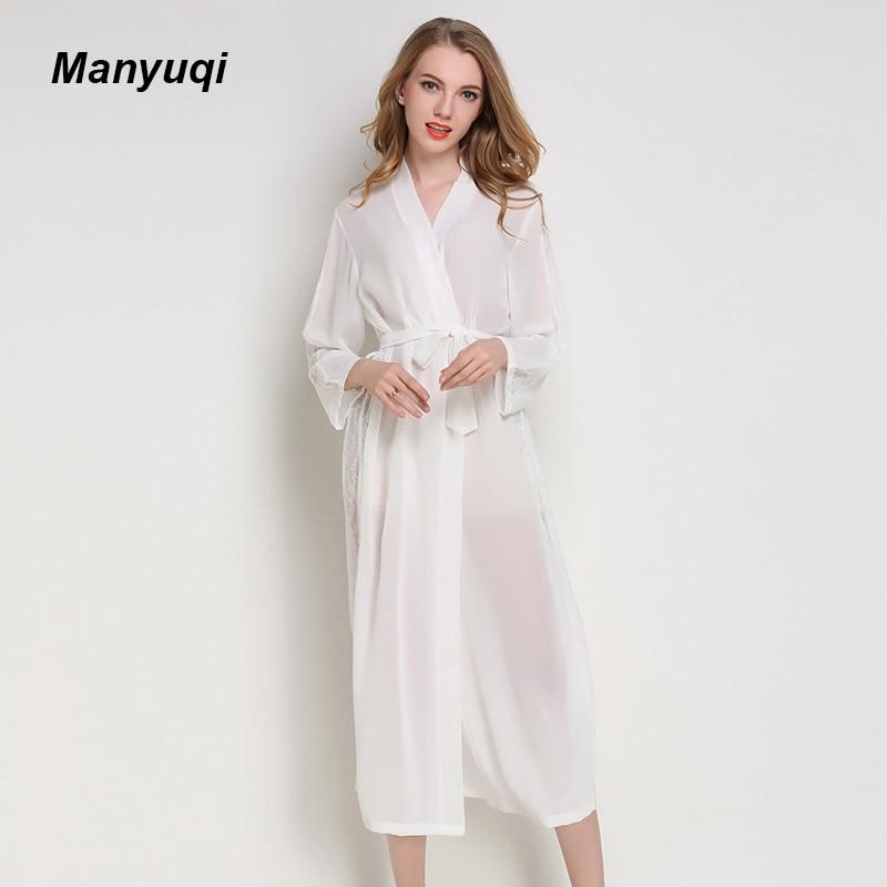 Sommer chiffon frauen spitze robe transparenten dünnen lang ...
