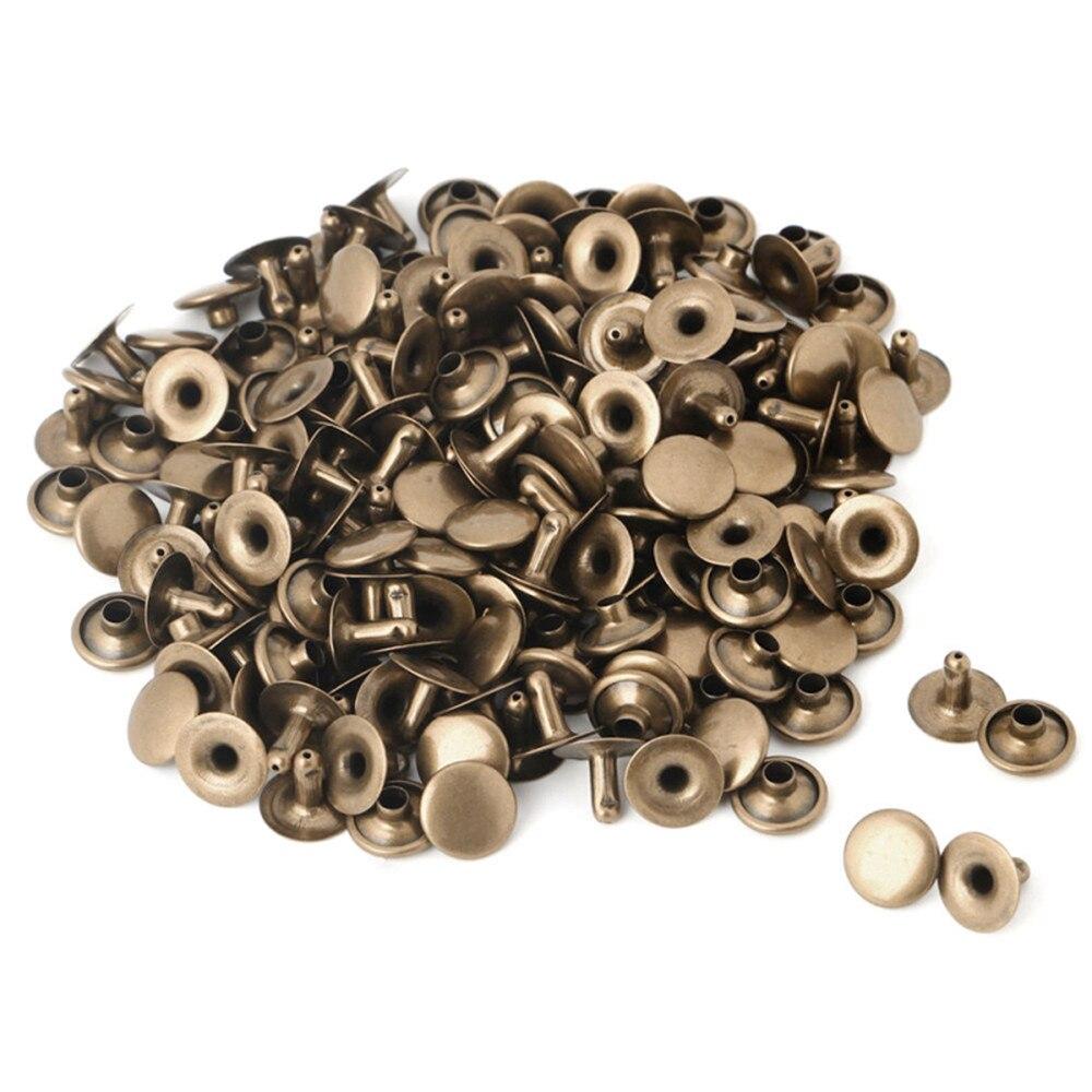Double Cap Rivet Tubular Metal Leather Craft Repairs Studs 5-100PCS