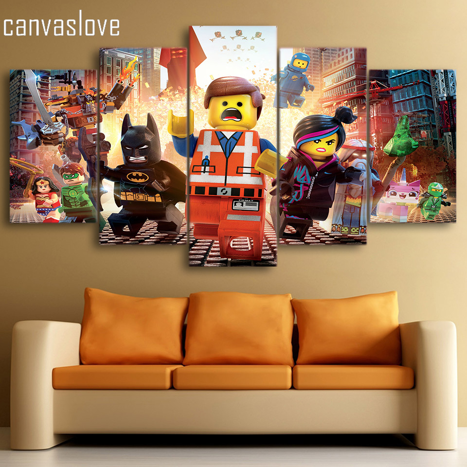 online buy wholesale lego wall art from china lego wall art hd printed the lego movie picture painting wall art canvas print room decor poster canvas free