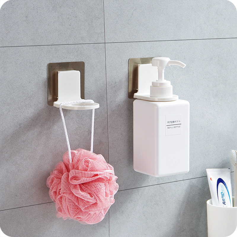 Super Sucker Hook Wall Mounted Strong Suction Cup Shower Gel Shampoo Hook Shower Hand Soap Bottle Hanging Holder Bathroom Hanger