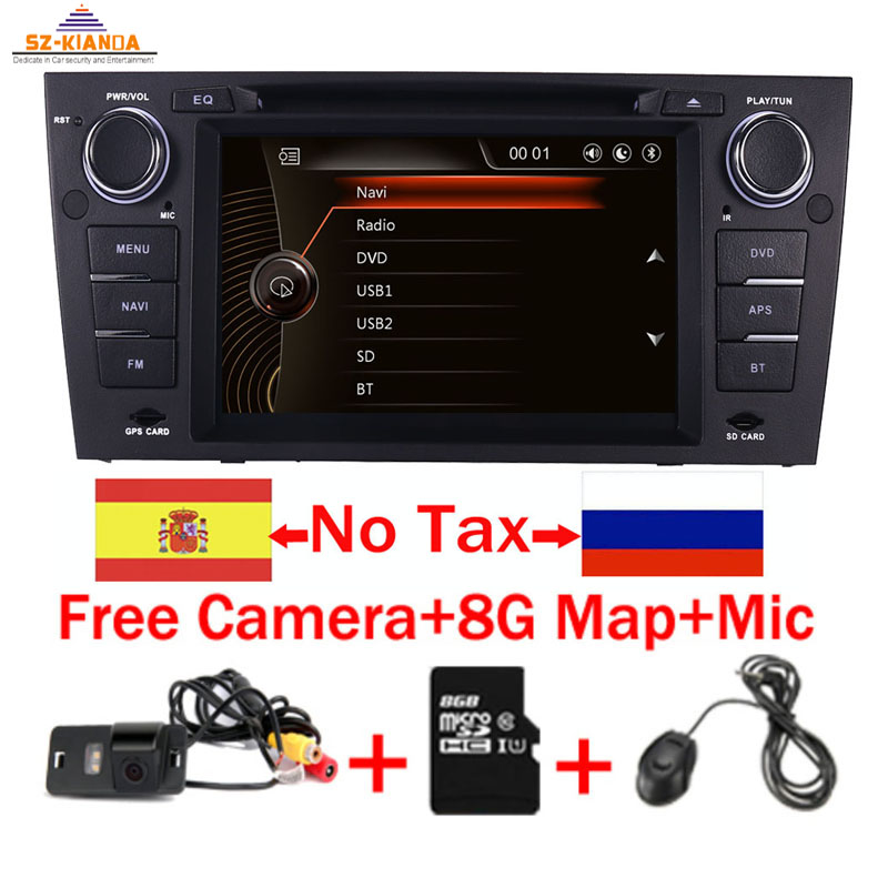 """Capacitive 7""""Touch Screen car gps navigation for bmw e90 E91 E92 GPS 3G Bluetooth Radio USB SD Steering wheel Free map Camera-in Car Multimedia Player from Automobiles & Motorcycles"""