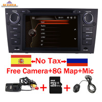 Capacitive 7Touch Screen car gps navigation for bmw e90 E91 E92 GPS 3G Bluetooth Radio USB SD Steering wheel Free map Camera